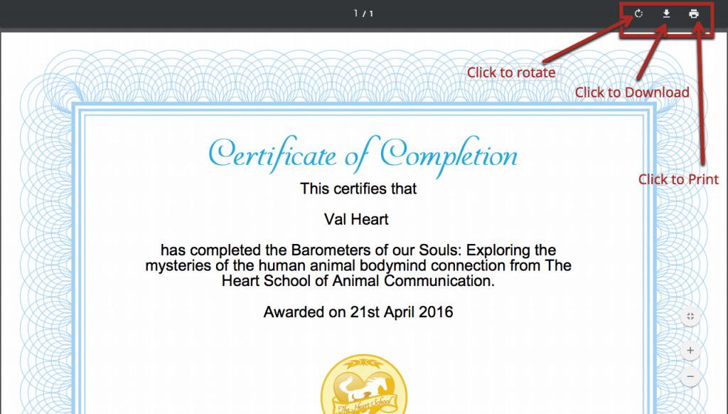 Saving the certificate